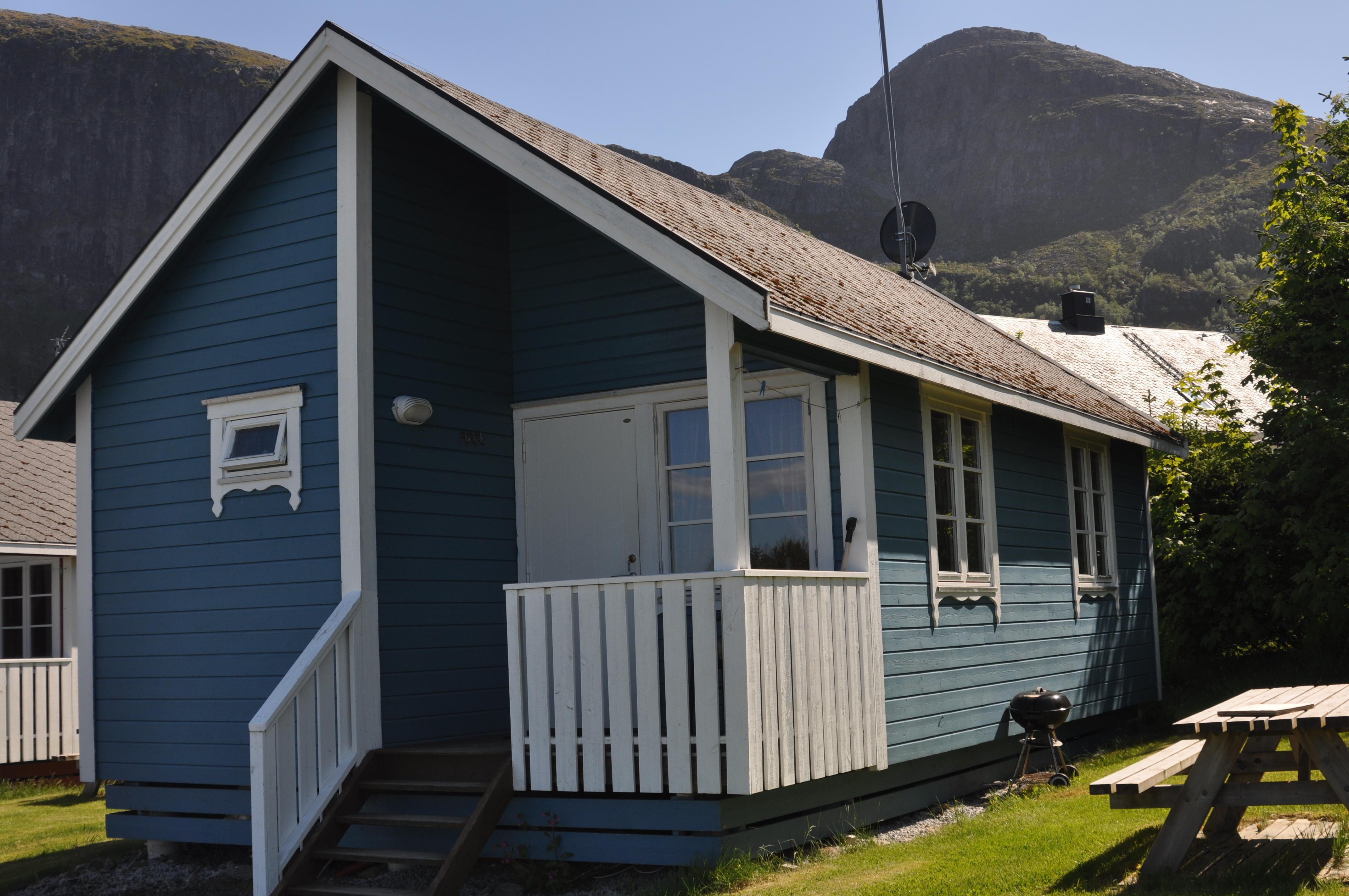 Stor hytte (Blå)