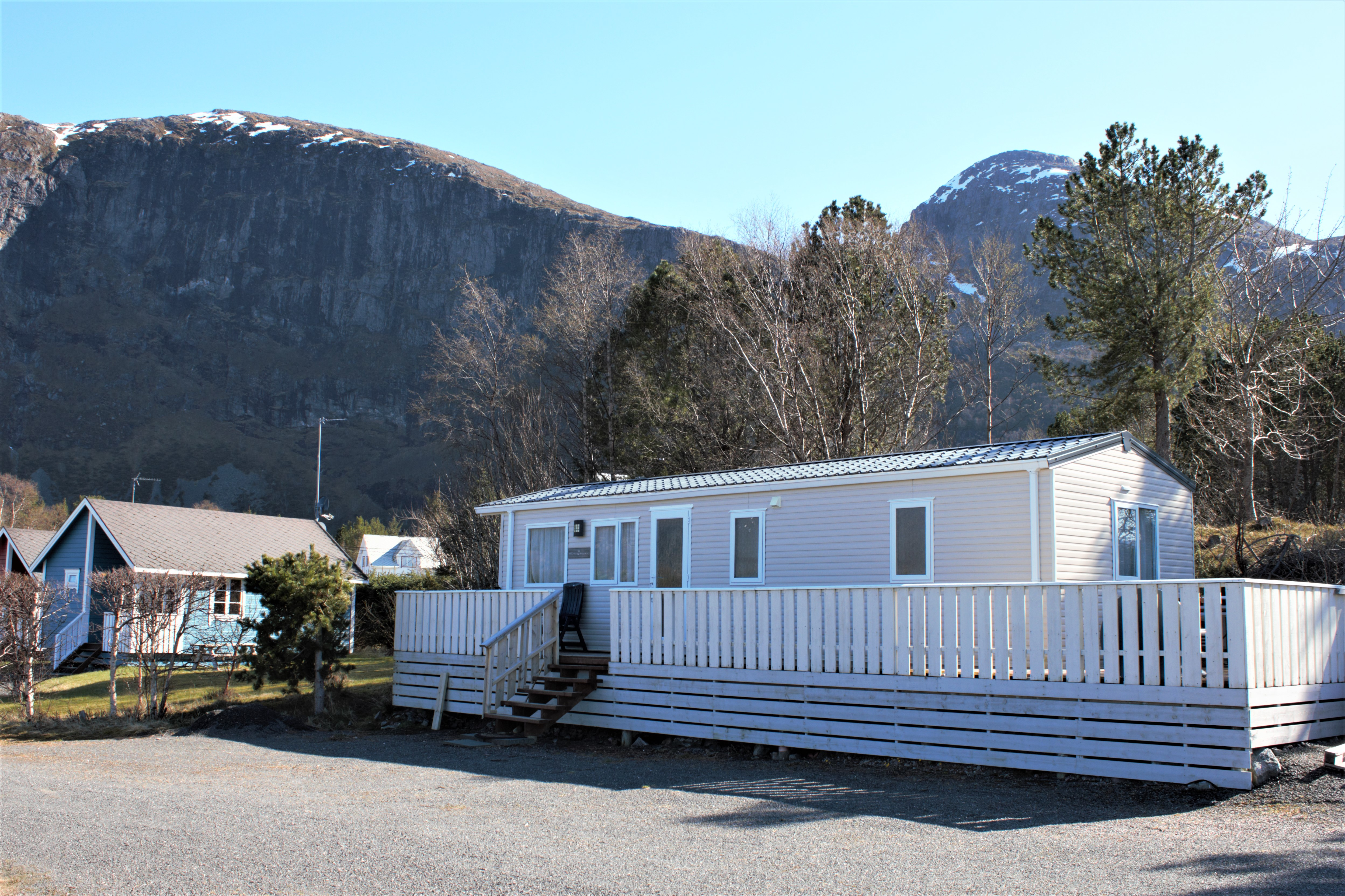 Stor hytte (Hvit)